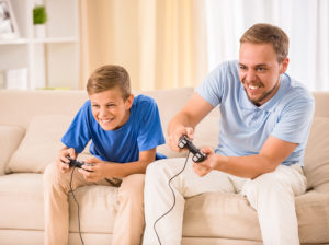 Your nephews spend time together are playing game.