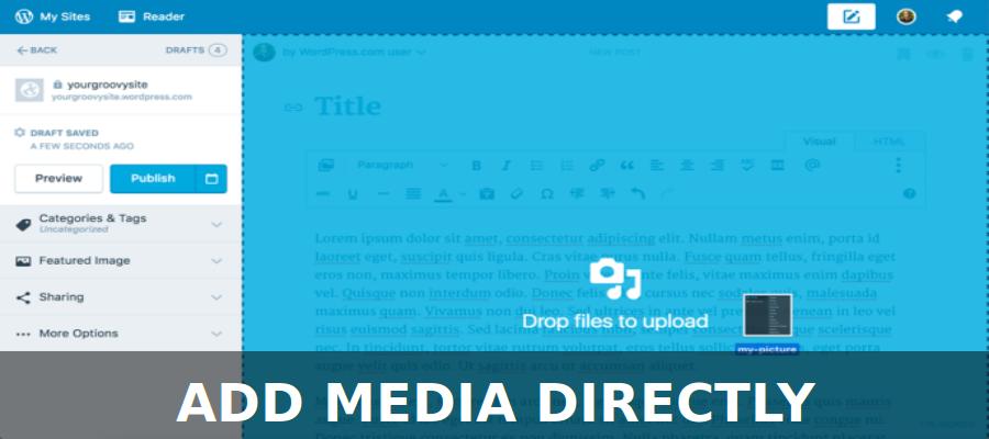 Add media Directly