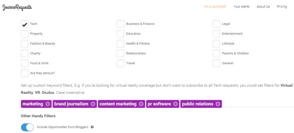 PR software for media lists