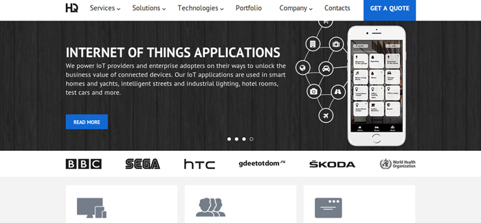 HQSoftwarelab Iot App Development Services
